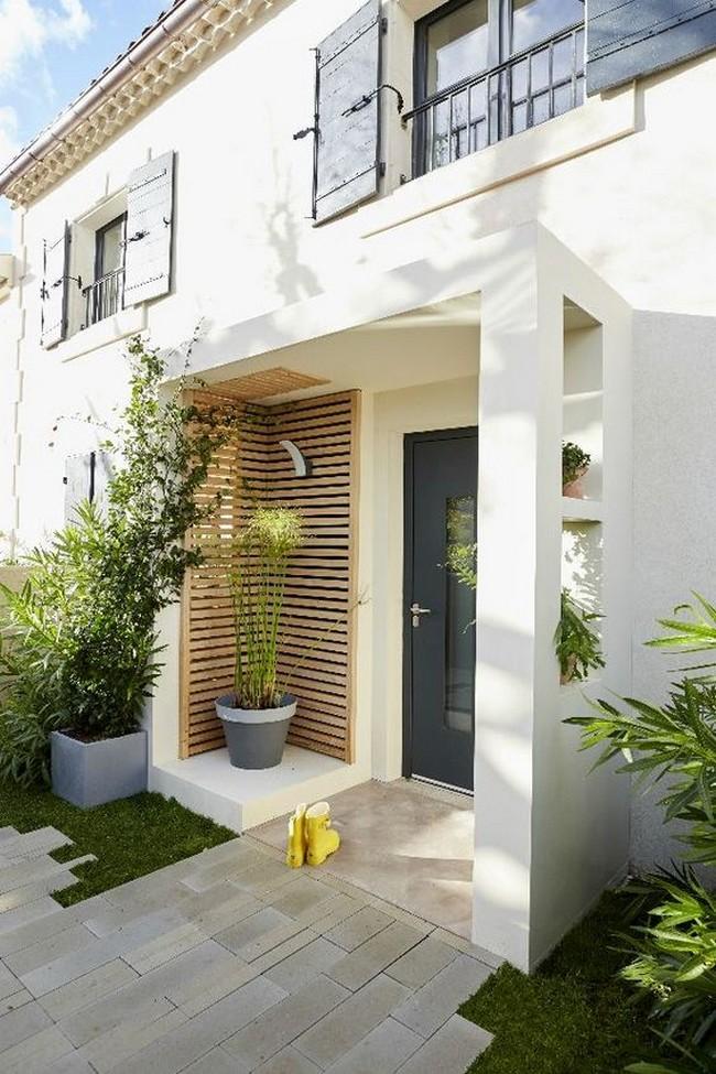 дизайн вход в дом перед домом