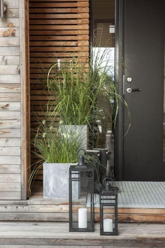 дизайн парадного входа в дом