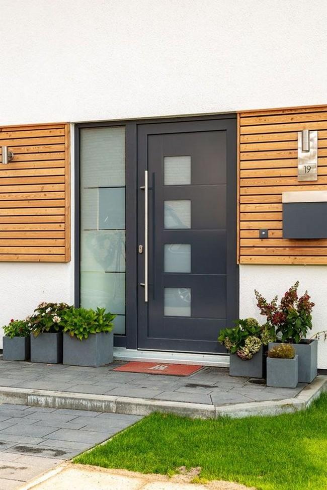 дизайн входа в загородном доме