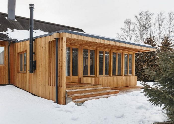 пристройка к деревянному дачному дому
