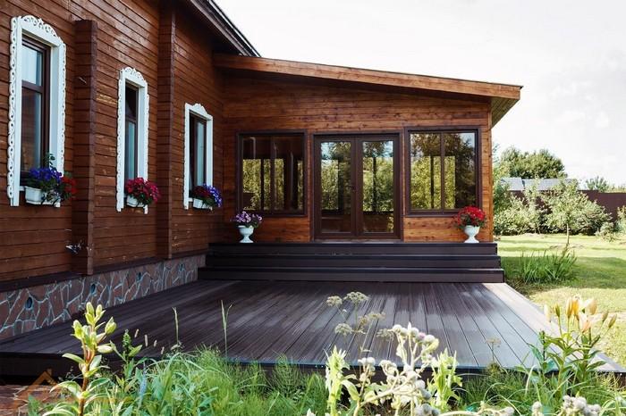 пристройка к деревянному частному дому