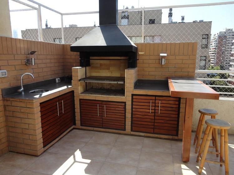 летняя кухня для дачи с мангалом