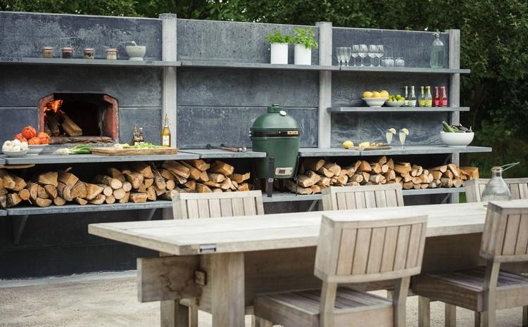 летняя кухня во дворе
