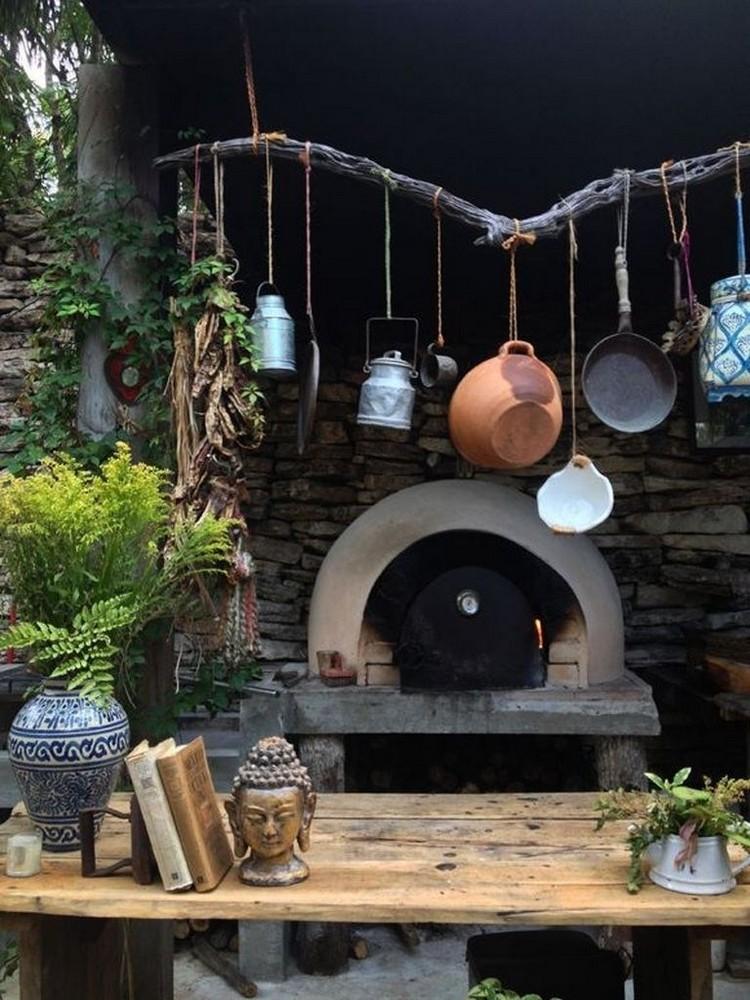 планировка летней кухни