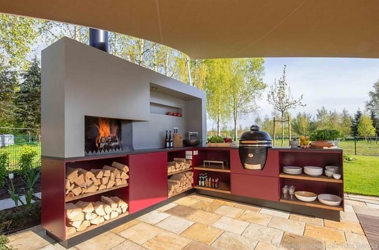 летняя кухня с печкой