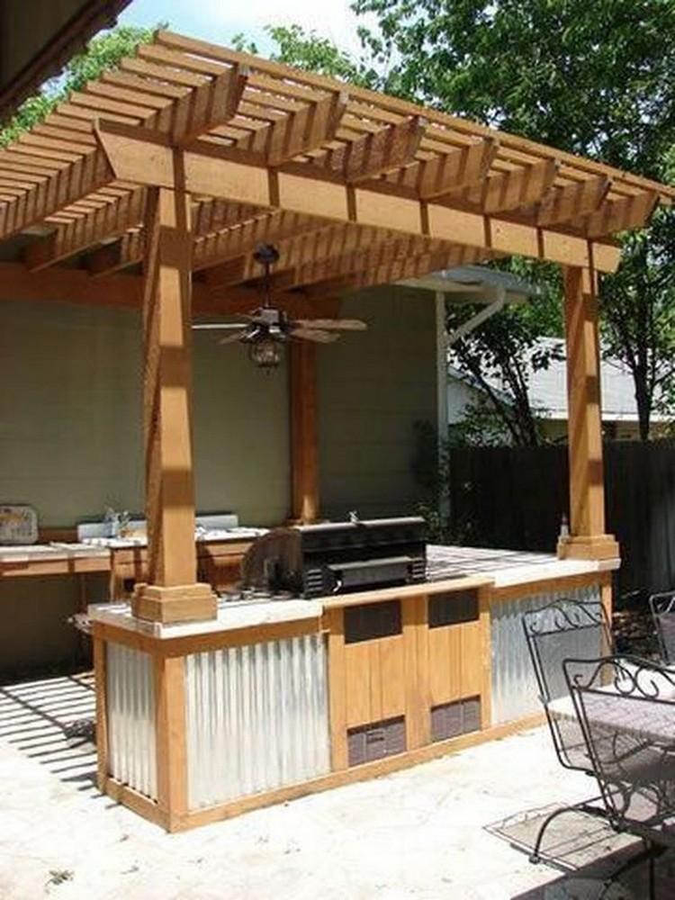 деревянная летняя кухня