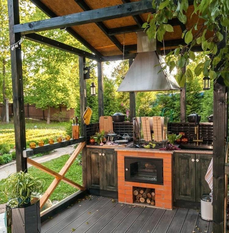 летняя кухня на даче с террасой