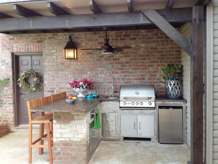летняя крытая кухня
