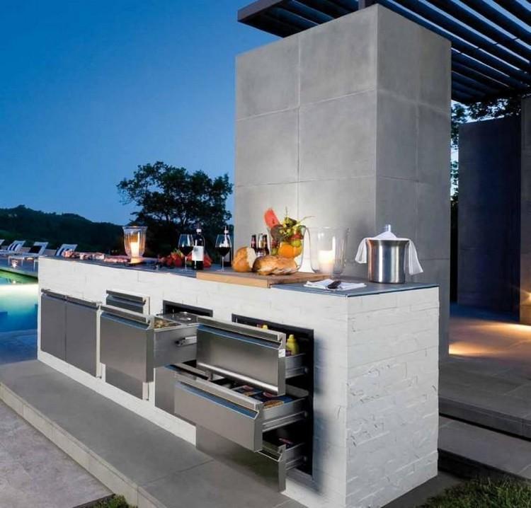 дизайн летней кухни внутри