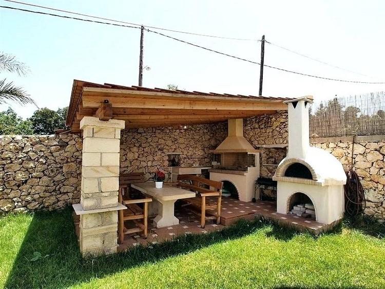 летняя кухня на природе
