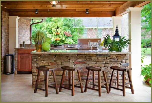 летняя кухня для частного дома
