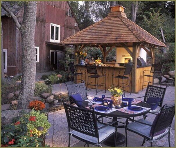 летняя кухня для дачи