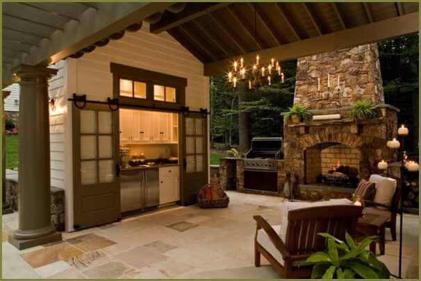 летняя кухня для загородного дома