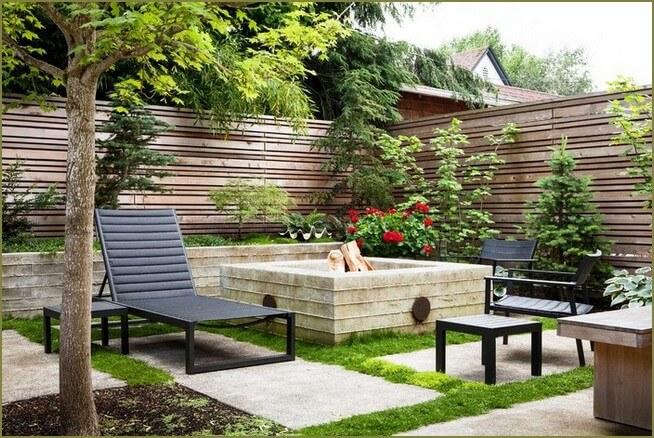 зона отдыха в саду частного дома