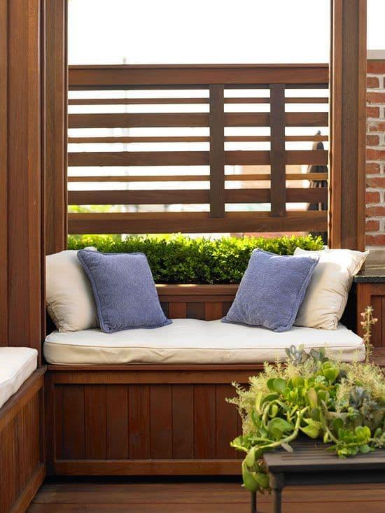 деревянная ширма на даче