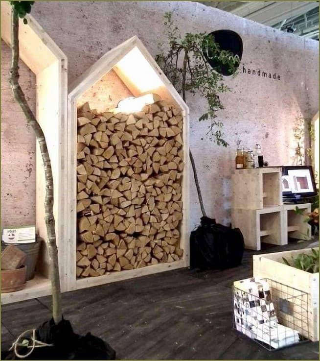 хранение дров в загородном доме