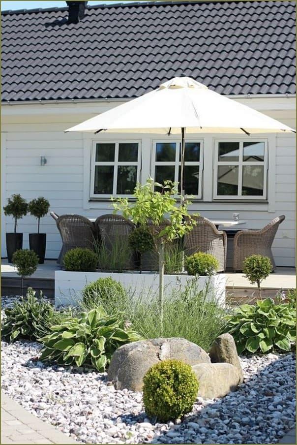 благоустроенный дачный двор