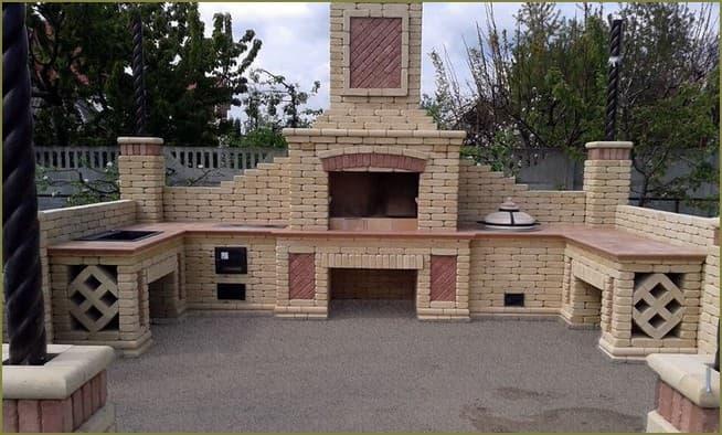 печной комплекс загородного дома