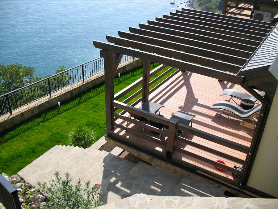 терраса палуба пристроенная к дому