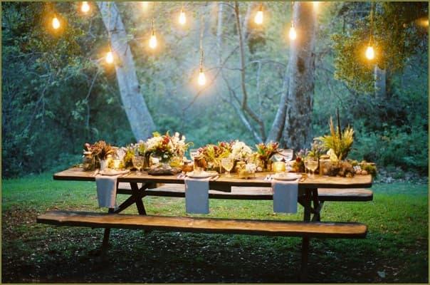 вечеринка в саду загородного дома