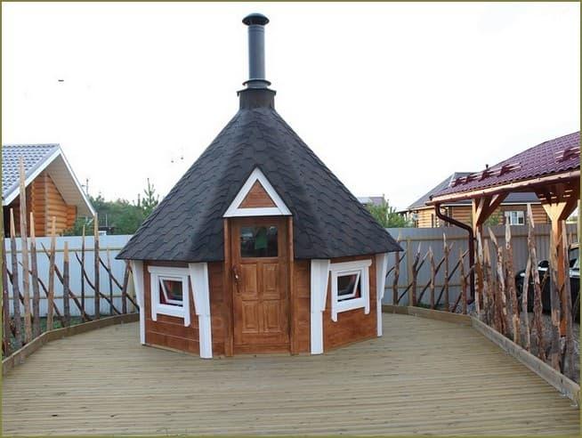гриль домик на даче