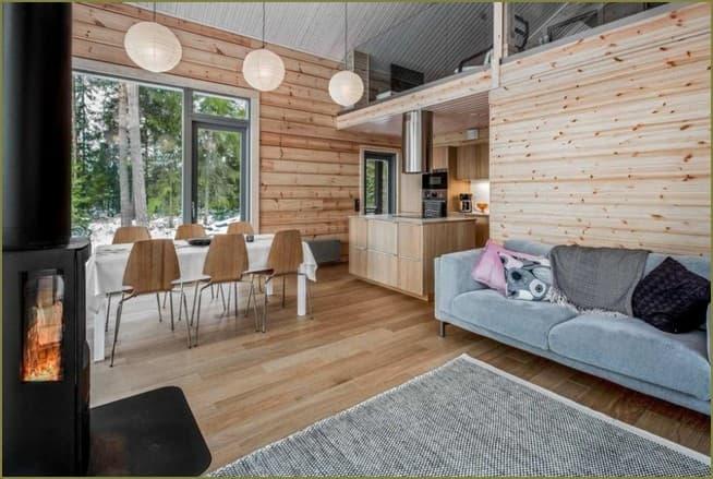 дизайн интерьера комнат в загородном доме