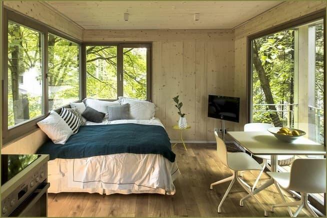 дизайн интерьера загородного дома спальни