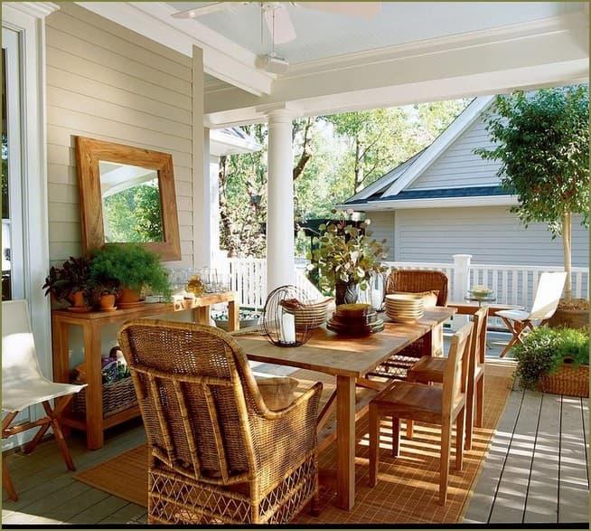 дизайн интерьера веранды загородного дома