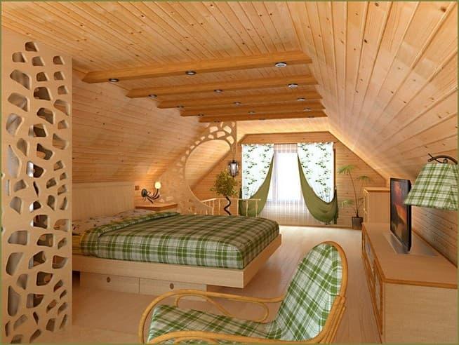 дизайн интерьера спальни загородного дома