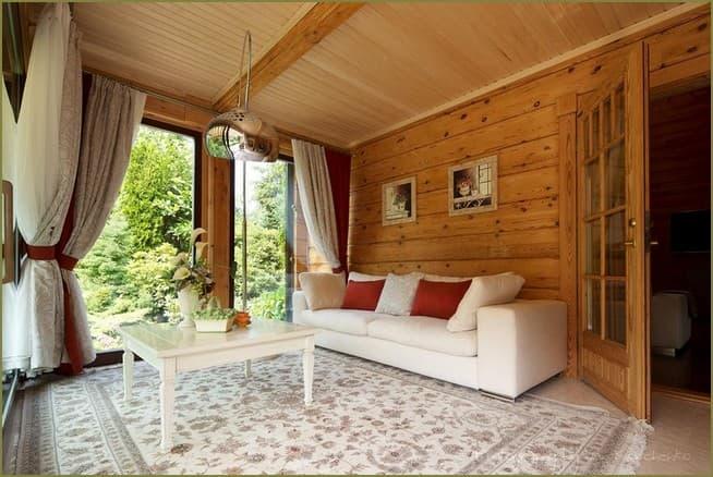 дизайн интерьера гостиной загородного дома