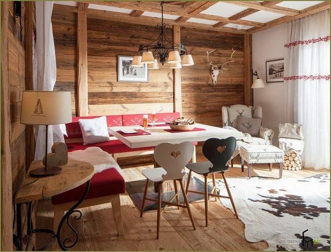 дизайн интерьера дачного дома в деревенском стиле