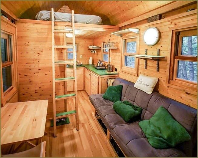дизайн интерьера маленького дачного дома в современном стиле