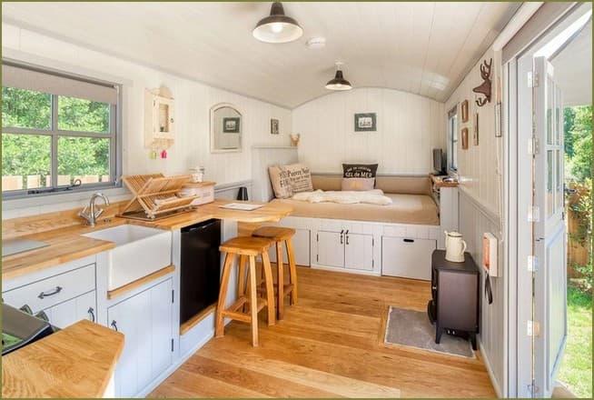 дизайн интерьера небольшого дачного дома
