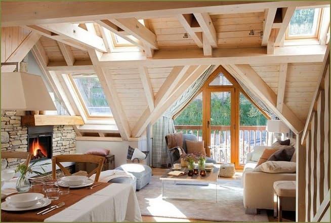 дизайн интерьера загородного дома в деревенском стиле