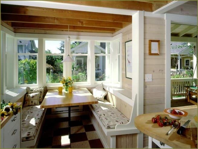 дизайн интерьера веранды загородного дома фото