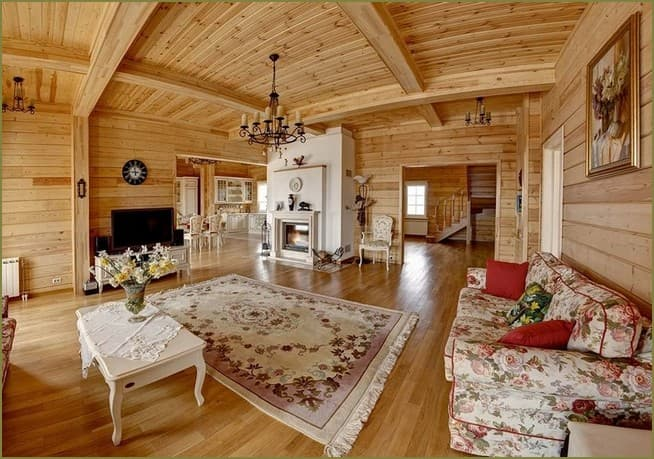 дизайн интерьера гостиной в частном доме фото