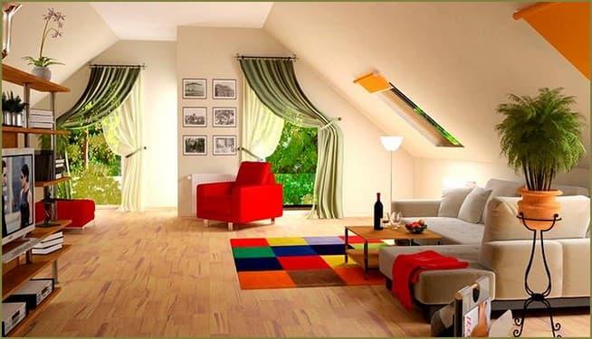 мансардный этаж в частном доме