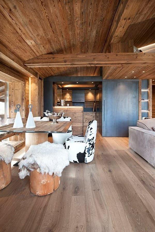 обустройство деревянного домика