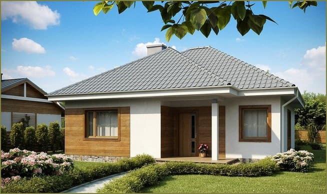 простые фасады одноэтажных домов