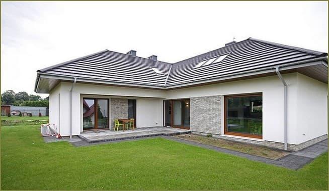дизайн фасада частного дома одноэтажного