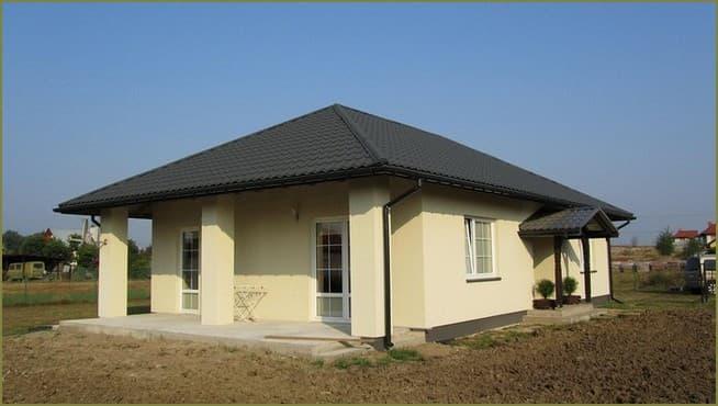 фасад одноэтажного дома в современном стиле