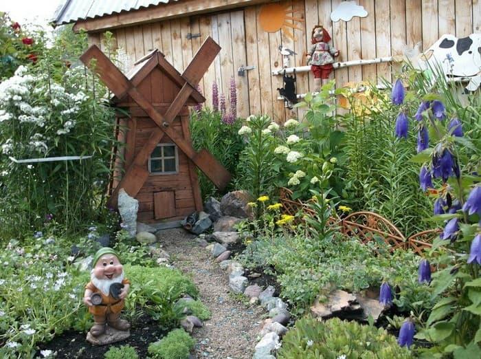поделки для украшения сада