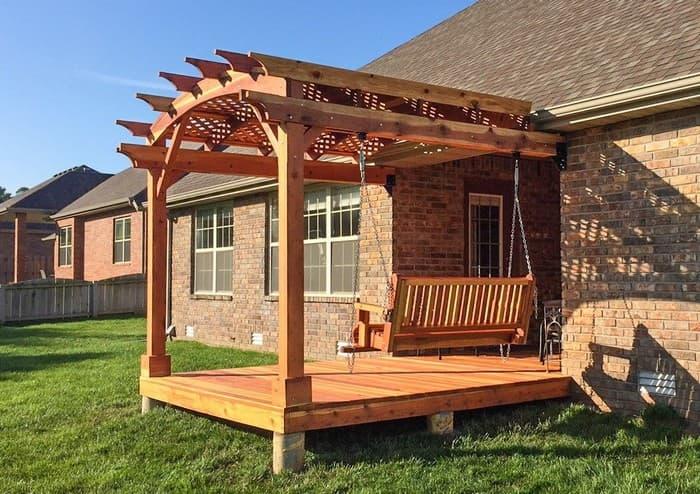 крыльцо терраса для частного дома с навесом