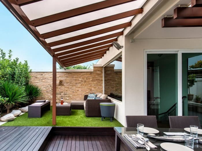 крыша навес для террасы