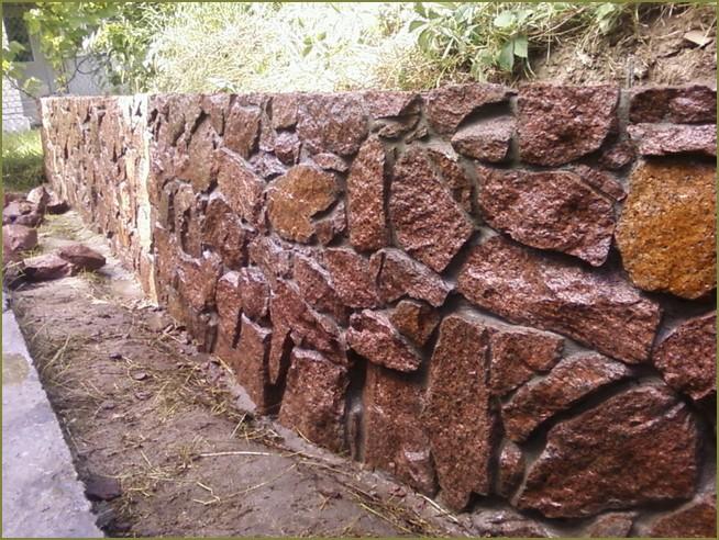 каменный забор для частного дома