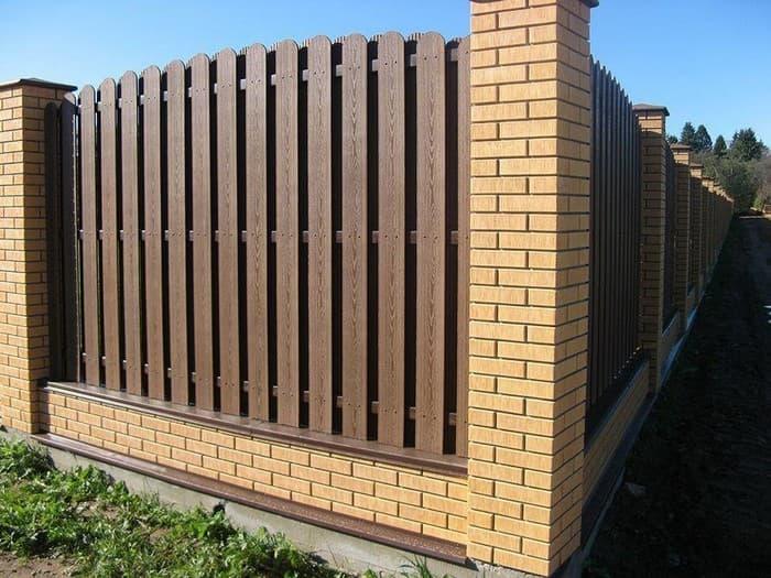 дачный забор из ДПК