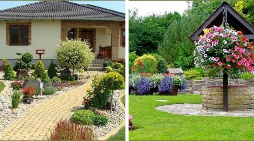 сад возле дачного дома