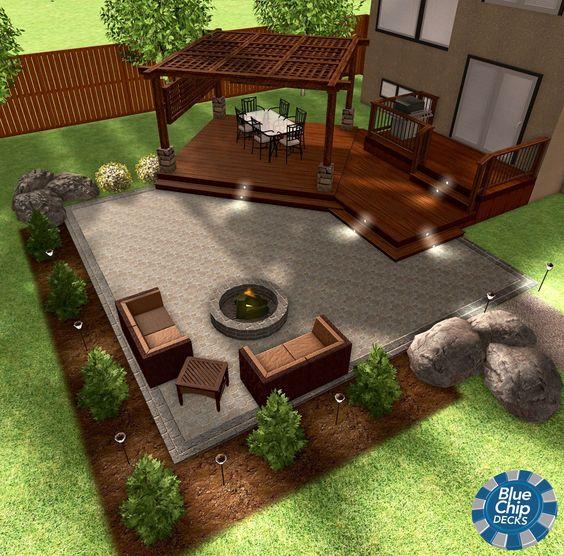 дизайн открытой террасы в частном доме