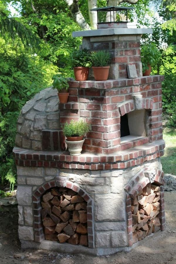 печь из кирпича на даче