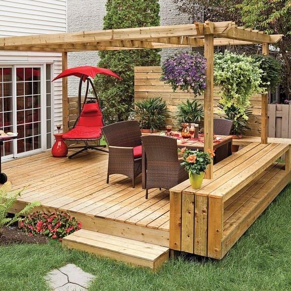 идеи как украсить дачный двор